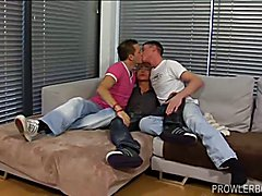 Twinks Oliver and Justin Spit Roast Young Aaron Anderson