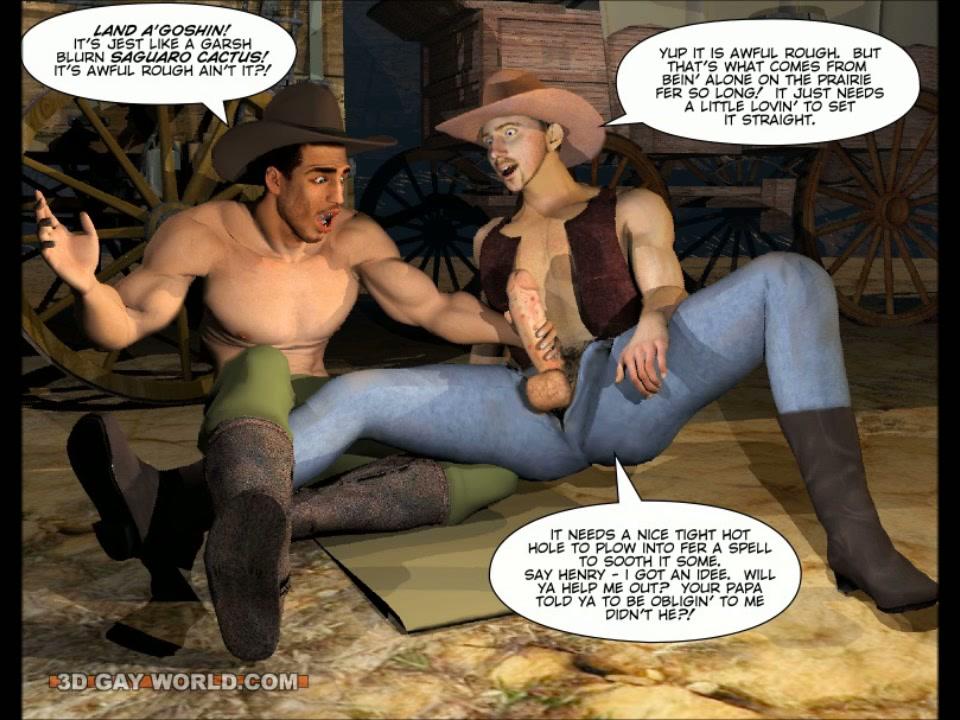 Cowboy cartoon porn