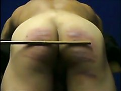 20 cuts of the cane (muscle guy's ass hard caning)