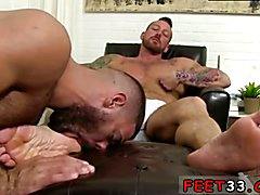 Kiss foot gay sex Ricky is guided and forced to worship his fresh employer's exceptional