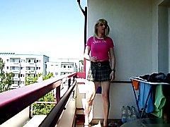 sandralein33 Sm,oking Blondie Shoolgirl Posing