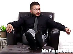 Bossy Michael demands his feet to be worshiped and licked  scene 2