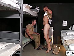 Adam Bryant and Josh Peters having sex with condom in prison