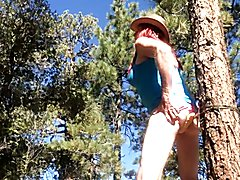 Cross dresser Jimma outdoors slutty CD