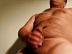 Sexy hairy chub masturbating
