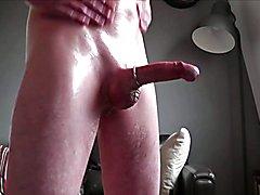 Slippery Shiny Soft to Hard Stroke and Cum