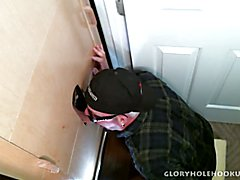 Thick Cock First Time Gloryhole Experience  scene 2