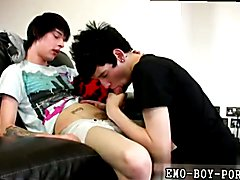 Gay emo swallow A friendly hj shortly leads to Lewis Romeo deepthroating on the head of