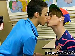 Gay twink photo series gallery small Dustin Cooper's taking a nap in an empty classroom,