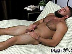 Gay leg and thigh fetish Ricky Larkin Shoots His Load As I Worship His Feet
