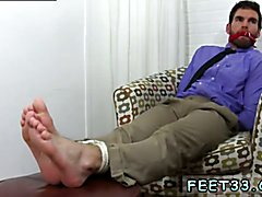 Gang bang gay sex gum free Chase LaChance Tied Up, Gagged & Foot Worshiped