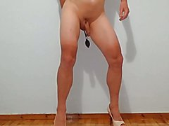 Inflatable Butt Plug and high heels!