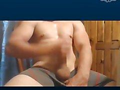 Str8 dirty talking Skype jacker