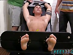 Male foot bondage movietures gay Sebastian Tied Up & Tickled