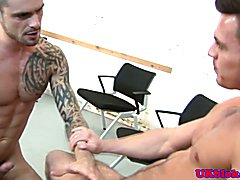Issac Jones muscle pom balls deep before cumshot