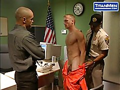 Jail Warden Dominates Submissive Prisoner