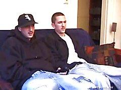 Amateurs Dion and Casper Jerking Off