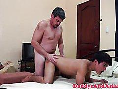 Filipino twink anal doggystyled by daddy