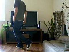 Twink dances and strips naked